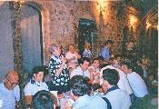 Presentazione degli arcieri alla cena in Via Moglio