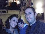 Gabriele Cecchini con moglie e figlia