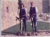 Gli arcieri Maurizio Bovini e Salvioni Marco